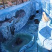 Аrt concrete, in aviaries Arctic polar bears